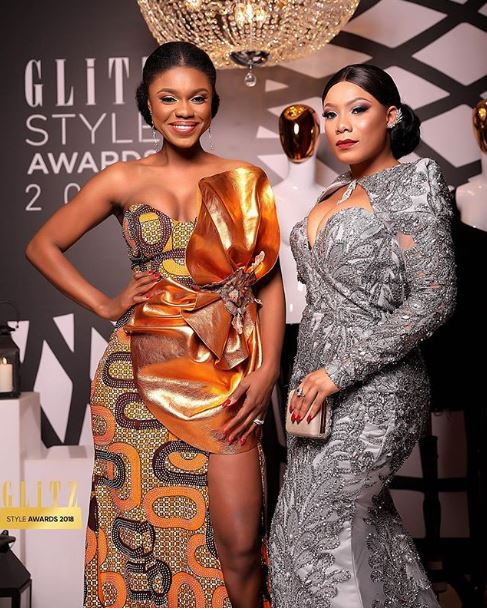 Becca and Zynell Zuh at Glitz Style Awards 2018