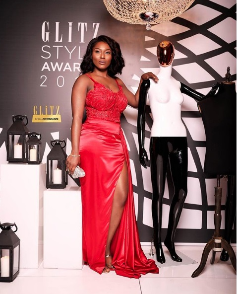 Tracy Sarkcess looks gorgeous at Glitz Style Awards 2018