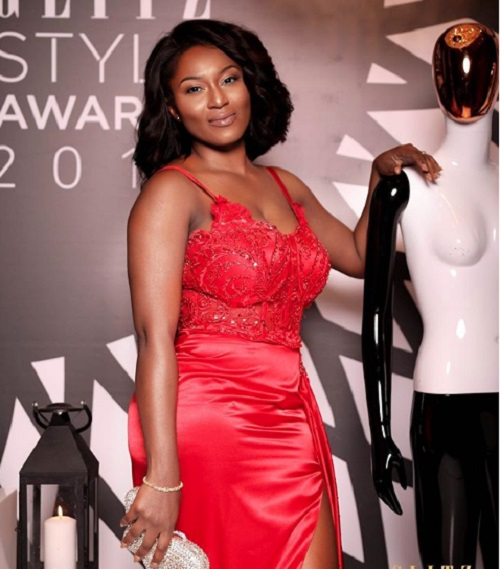 Tracy Sarkcess at Glitz Style Awards 2018
